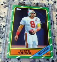 STEVE YOUNG 2012 Topps Reprint 1986 Rookie Card RC 49ers 3 Superbowl Rings HOF $