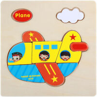Baby Kids Developmental Toys 3D Wooden Puzzle Jigsaw Cartoon Animal Fruit Cute