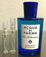 Acqua Di Parma Chinotto Di Liguria 5ml 10ml Glass Decant Samples
