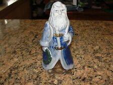 P.W. & Co. Christmas Santa Salt Glazed Cobalt Stoneware