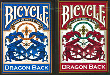 12 Decks Red Blue DRAGON BACK Bicycle 309 Playing cards