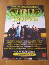 STONE TEMPLE PILOTS -  AUSTRALIAN  TOUR  -  PROMO TOUR POSTER