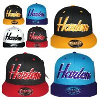 Harlem Snapback, Retro vintage flat peak caps, hip hop fitted baseball bling hat