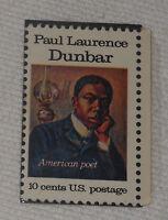Paul Laurence Dunbar American Poet 10 Cent US Postage Stamp 1975 Scott 1554 MNH