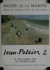 Affiche JEAN PELTIER 1987 Exposition Musée de la Marine