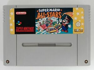 Jeu vidéo Super NINTENDO SNES Super Mario All Stars Mario 1 2 3 FAH TESTE OK