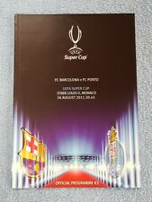 2011 - UEFA SUPER CUP FINAL PROGRAMME - BARCELONA v PORTO - V.G CONDITION