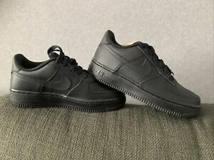 Size UK 4 Nike Air Force 1 (GS) 4.5 Y New Unwanted Black Unisex Trainers
