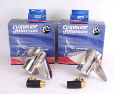 EVINRUDE REBEL Boat Propellers Pair - 3 blade - 15 1/8x20 LX + RX - Hélices