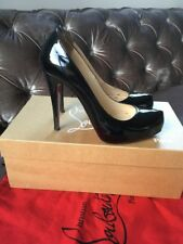 Christian Louboutin Rolando Black Patent Court Heels Pumps Shoes Uk 4.5 Eu 37.5