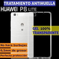 FUNDA TPU DE GEL SILICONA 100% TRANSPARENTE PARA HUAWEI P8 LITE PLASTICO CARCASA