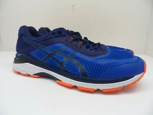 ASICS Men's GT-2000 6 Athletic Running Shoes T806N Blue/Orange Size 12 2E