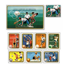 NIC84042 Summer Olympics Los Angeles 8 stamps and block