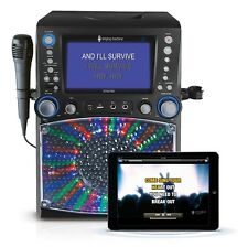 Karaoke Sound System Singing Machine Wireless Bluetooth Color Monitor Microphone
