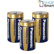3 PANASONIC ALKALINE POWER D LR20 BATTERIES BLISTER 1.5V MONO R20 MN1300 AM1 E95