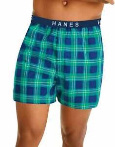 Hanes 5 Pack Boxer Mens Classics TAGLESS Comfort Flex Cotton Waistband Underwear
