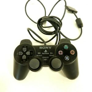 Sony Dual Shock 2 Wired Playstation PS2 Controller Black Works Genuine #13 B31