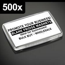 500x Premium Quality Clear Acrylic Blank Fridge Magnets 66 x 44 mm   Large Photo