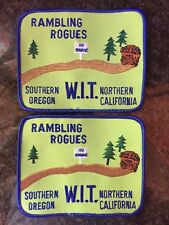 (2) Rogue Valley Rovers - Rambling Rogues RV Club Patch Lot - Winnebago Club