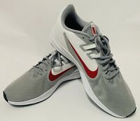 Nike Downshifter 9 4E Men's Running Shoe Extra Wide Grey-Red Size 11
