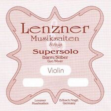 LENZNER SUPERSOLO 4/4 Geige DARM BLANK Saiten SATZ Violin GUT Strings SET
