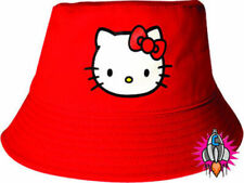 OFFICIAL HELLO KITTY RED CHILDS KIDS GIRLS BOYS SUN BUCKET HAT CAP NEW WITH TAGS