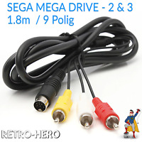 AV Chinch Kabel für Sega Mega Drive 2 / II / MD2 TV Stecker Neuware