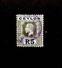 ceylon 1912 SG 317 5R KGV FINE USED