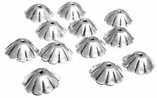 6PSC Fine Sterling Silver Flower Fancy Bead Caps- Beading Supplies