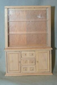 Wooden Display Cabinet-Dollhouse Miniature