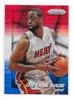 DWYANE WADE 2014 Panini PRIZM Miami HEAT Red White Blue Basketball CARD #141