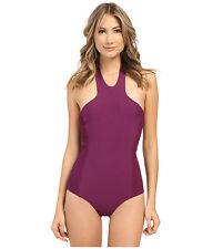 Tori Praver Rosarito Full Coverage Women Swimwear Sangria Small NWT