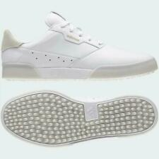 adidas Spikeless Men's Golf Shoe, Size UK 8.5 - White Gold Metallic/Crystal White