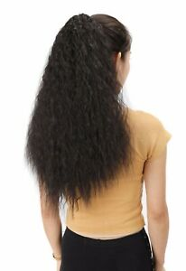 Long 65cm Ponytail Afro Kinky Curly Synthetic Hair Extension Claw In String Hair