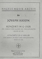 Joseph Haydn : Konzert in G-Dur für Cembalo oder Klavier und Streichorchester