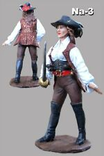 Figure Tin Toy Pirate Female Saber Hand Painted 1/32 Woman Toy Soldiers 54mm