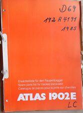 Atlas Raupenbagger 1902 E Ersatzteilkatalog
