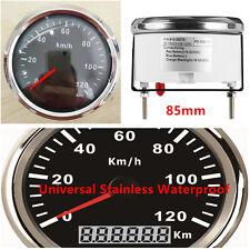 GPS Digital Speedometer Stainless Waterproof Gauge 120KM/H For Car Truck 12V 24V