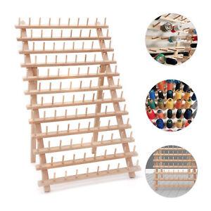 120 Spool Tailor Holder Sew Wood Thread Rack Sewing Organizer Storage Bobbin