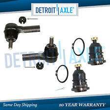 Brand New Set (4) Front Outer Tie Rod End + Ball Joint Links for Nissan Frontier