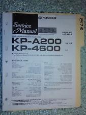 Pioneer kp-a200 4600 service manual original repair book stereo car radio tape