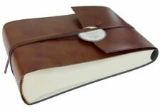 Romano Recycled Leather Photo Album, Small Chestnut - Handmade in Italy