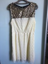 BNWT Mimi Chica Teen's Off-white Lace Dress Size L