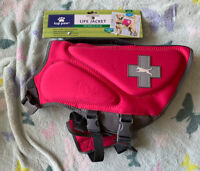 Top Paw Pink Life Jacket (Size Large: Dogs 55-85 lbs) New
