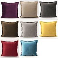 "Dutch Velvet Decorative Cushion Sham Covers Soft Luxury Sofa Pillow Case 18"""