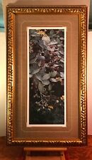 TERRY ISAAC 1993 Large Print BRAMBLES & BRASS BUTTONS (Quail) Beautifully Framed