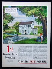 NANKIN MILLS MICHIGAN FORD MOTOR CAR COMPANY 1950s AMERICAN MAGAZINE ADVERT