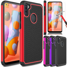 For Samsung Galaxy A11 Phone Case Shockproof Hybrid Cover/Glass Screen Protector