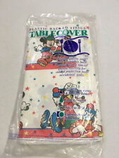 NEW Vtg Disney Roller Mickey Mouse Plastic Back Table Cover Cloth Goofy Donald