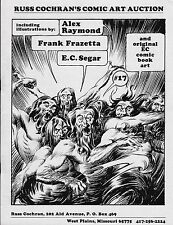 RUSS COCHRAN COMIC ART AUCTION CATALOG #17 1984 FRANK FRAZETTA SEGAR EC COMICS